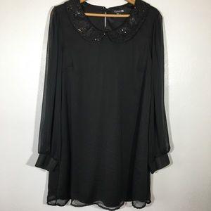 LBD Litte Black Dress Forever 21 Peter Pan Collar